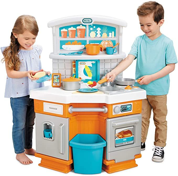Amazon Com Little Tikes Home Grown Kitchen Role Play Kitchen With Fresh Updated Look Toys Games Carros Infantis Infantil Artesa