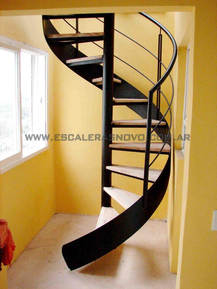 Las 25 mejores ideas sobre escalera helicoidal en for Escalera de metal con descanso