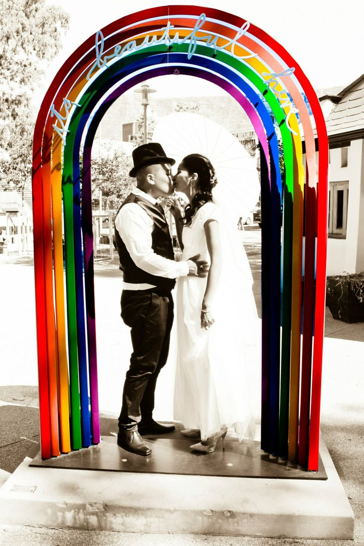 Rushda and Junaid - Rainbow arch