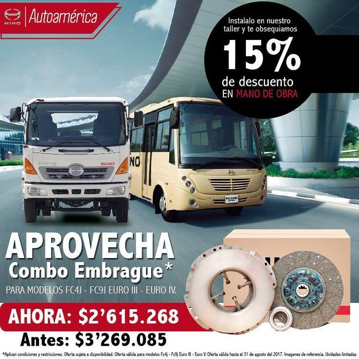 Compra un combo de Embrague para tu Hino en Autoamérica http://ow.ly/YKi630efX9y