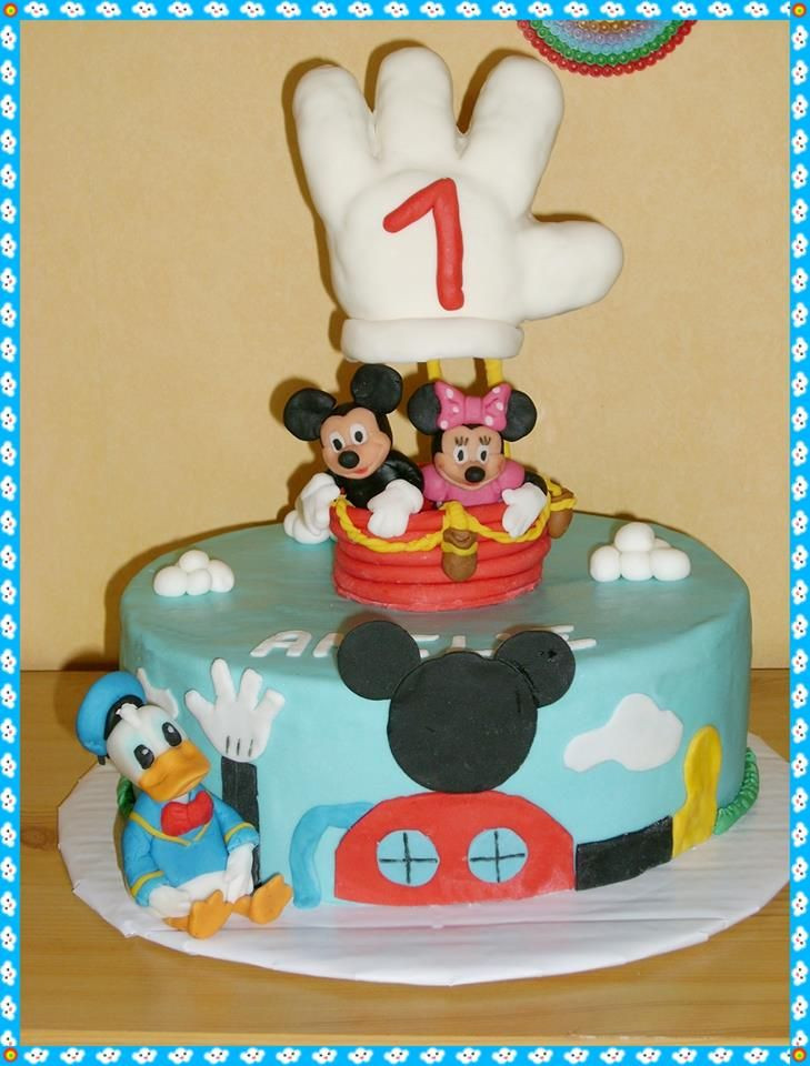 micky maus wunderhaus torte mickey mouse wonderhouse cake. Black Bedroom Furniture Sets. Home Design Ideas
