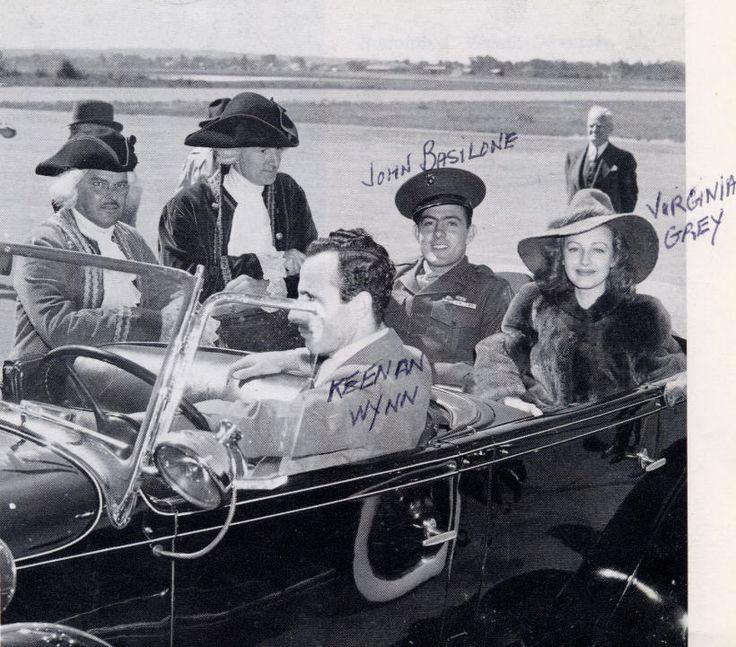 John Basilone's bond tour John Basilone and Virginia Grey