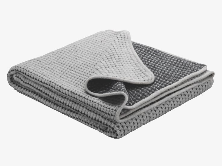 MARINELA GREY Wool blend Grey wool blend throw - HabitatUK