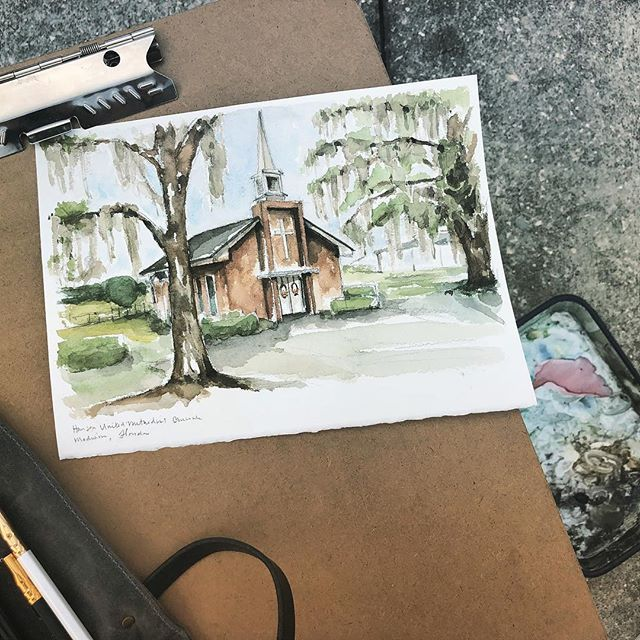 This Is A Special Place Family Watercolors Sketching