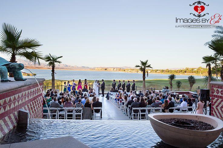 Westin Lake Las Vegas Resort wedding ceremony by Images by EDI