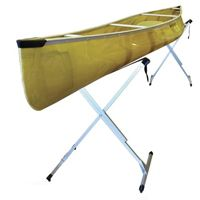 Fully adjustable pair manufactured of aluminum for safely kayak or canoe storage up to a height of 40""