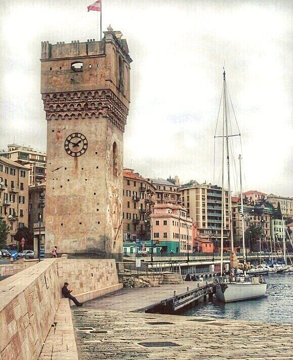 The Torretta the clock tower of Savona. #Italy #Liguria