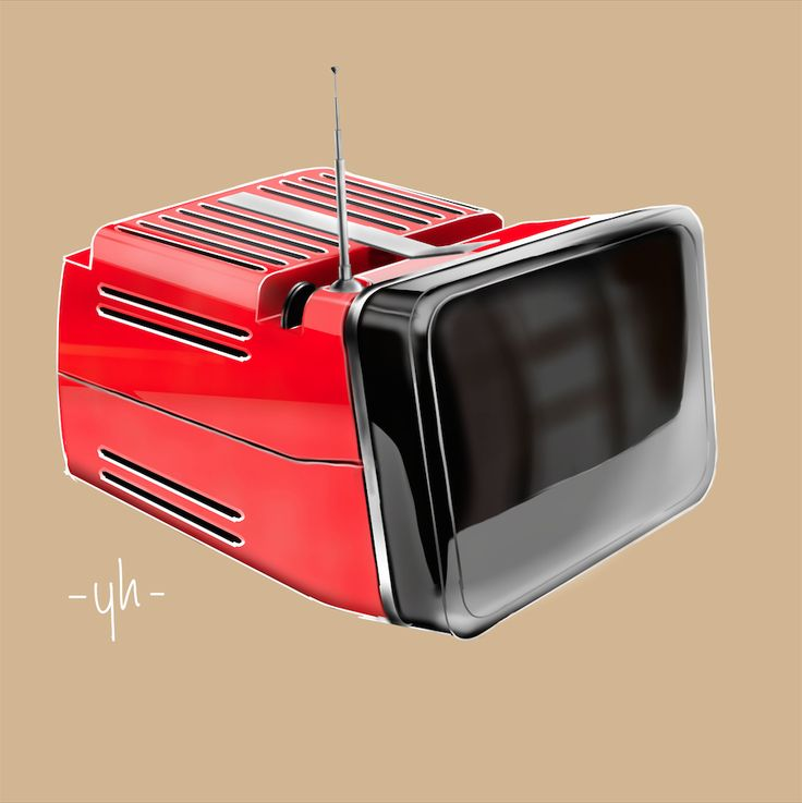The #Algol 11 black and white TV #designed by Richard #Sapper and Marco Zanuso in 1965. Created using #SketchBookPro #productdesign #industrialdesign #idsketching