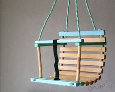 Kinderschaukel aus Holz für den Garten / wooden child's swing made by Greenwoodlt via DaWanda.com