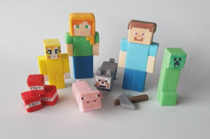 MINECRAFT edible figures cake toppers decoration