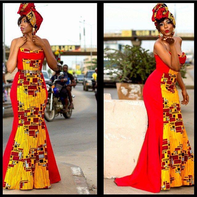 Beautiful Ankara Gown Design http://www.dezangozone.com/2015/11/beautiful-ankara-gown-design_14.html
