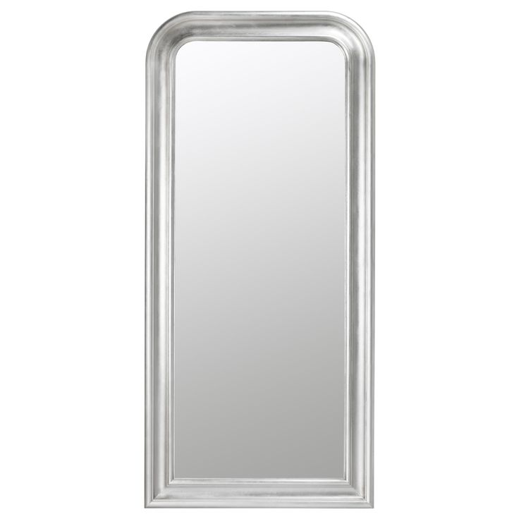 Ikea floor mirror songe mirror silver color for Miroir ikea songe