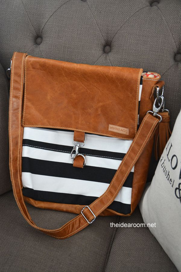 Cute bag! Love the Nautical look! Better Life Bag Giveaway | theidearoom.net
