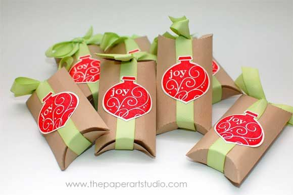 Christmas Party Favors... Give yourself the gift of a dollar saved with recycled wrapping paper rolls!