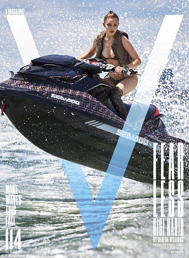 31bb02c592 Brand ambition  Gigi Hadid sizzled in a Fendi bikini for the new cover of V  Magazine