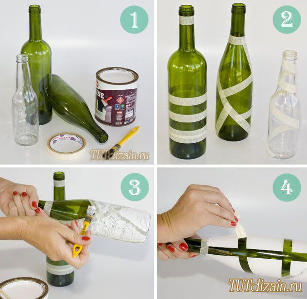 Ways To Decorate Glass Jars 46 Best Wine Bottle Ideas Images On Pinterest  Decorated Bottles