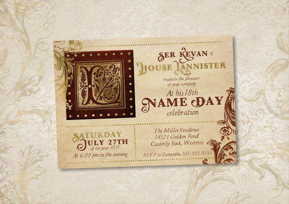 Royal Throne Birthday Party Invitation Old Paper Monogram Etsy Game Of Thrones Birthday Dragon Party Invitations Game Of Thrones Party