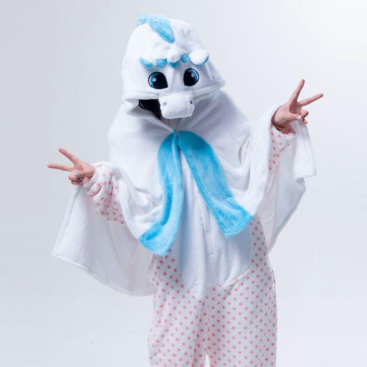 Blue Unicorn Animal Anime Kigurumi Winter warm Cloak/Shawl/Blanket
