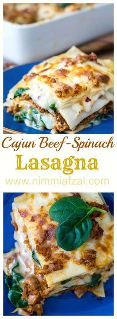 cajun beef spinach lasagna