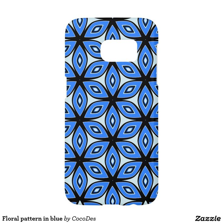 Floral pattern in blue #samsung galaxy s7 case #zazzle #cocodes http://www.zazzle.com/floral_pattern_in_blue_samsung_galaxy_s7_case-179166587743677634