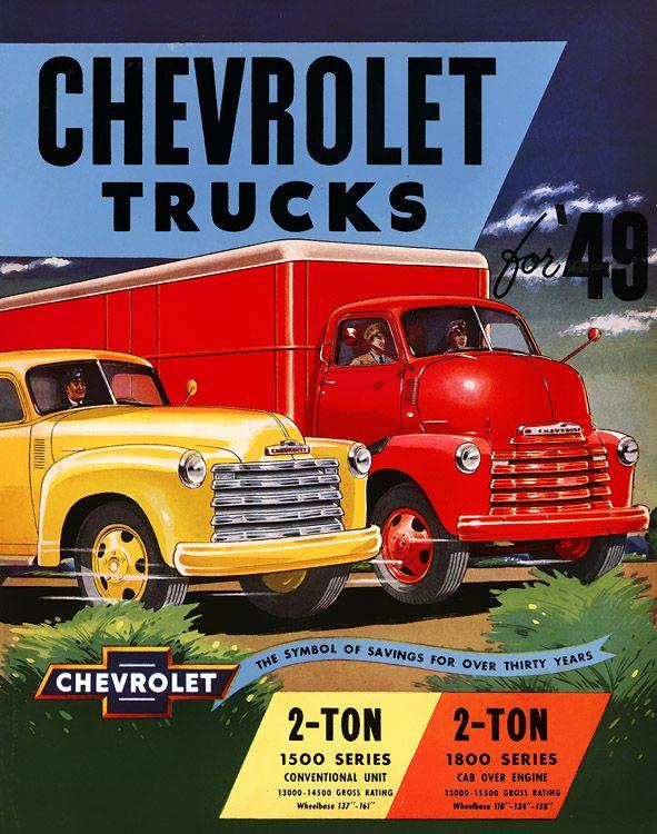 Chevrolet trucks 1949 #advertising #vintage #trucks