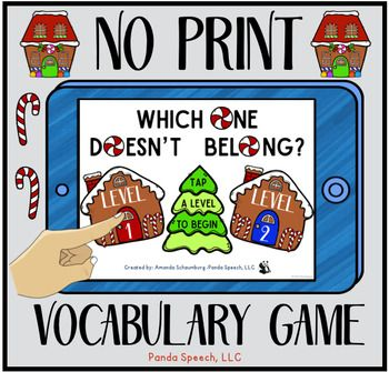 gingerbread edition game gingerbread belong vocabulary vocabulary game ...