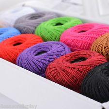 1Set 12pcs Cotton Sewing Threads Embroidery Floss Knitting Crochet
