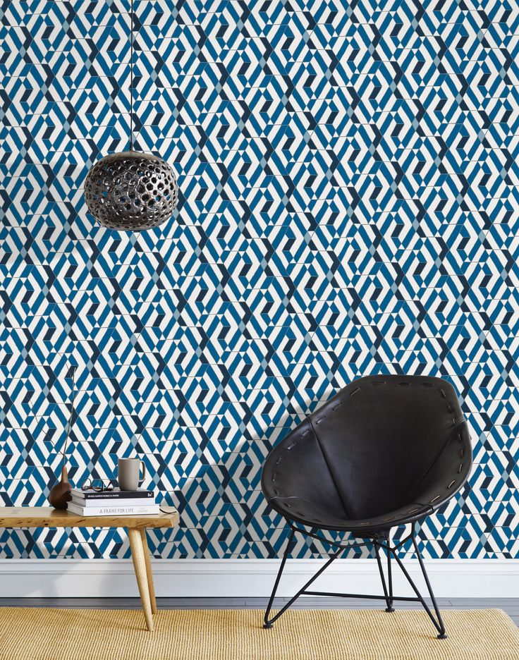 Heath For Hygge U0026 West Wallpaper, Quilt In Blue.