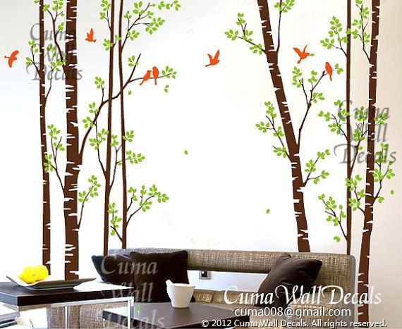 Best Tree Wall Decal Images On Pinterest Vinyl Wall Decals - Wall decals birdsbirds couple on branch wall decal beautiful bird vinyl sticker
