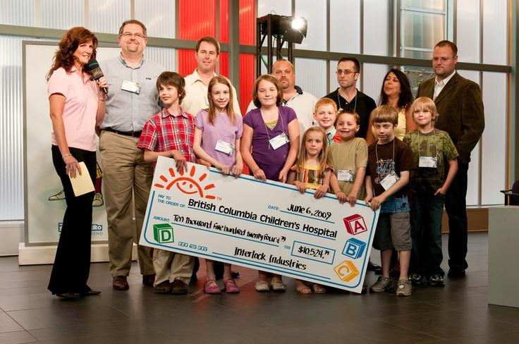 2009 - Interlock Industries (BC) Ltd. presents a check to the BC Children's Hospital Foundation.