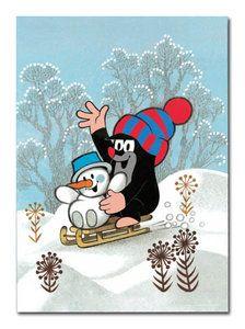 #poster #molletje #sneeuwman #krtek #miler #illustration