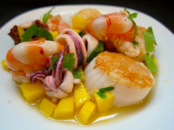 Ceviche Mixto (Shrimp, Squid, Scallops, & Mango)