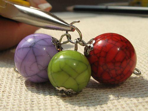 Схемы работы с гвоздями, булавками и бижутерными кольцами - Конфитюр - бусины и фурнитура для украшений