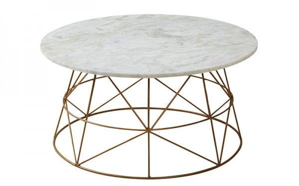 Klein Coffee Table Copper/Marble | OZ Design Furniture & Homewares