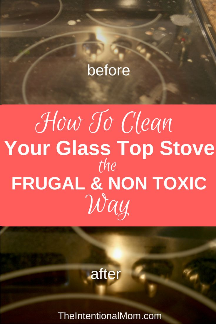 Glass stove top cleaner can be expensive & toxic. Clean your glass top stove using things you already have on hand. Save time, money & fumes via @www.pinterest.com/JenRoskamp