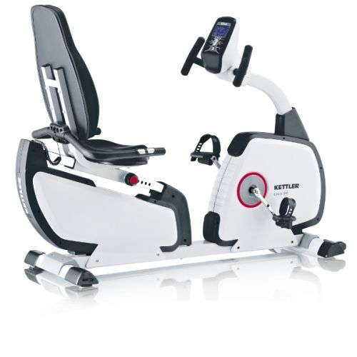 Kettler Giro R Recumbent Bike - The Kettler Giro R Recumbent Bike is an affordable feature packed high quality recumbent cycle for demanding home users. The Kettler Giro R Recumbent Exercise Bike comes with 8 training programs including heart rate control with a visual warning signal when your optimum heart rate limit is exceeded.  www.FitnessExchange.com