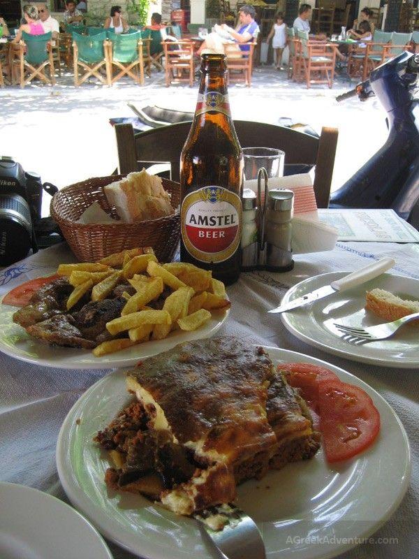 Naxos Greece, delicious food