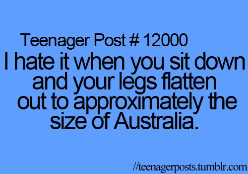 Ok this is just hilarious!! It's so true!! Unless you are all muscle you feel so fat when you sit down!! Lol!