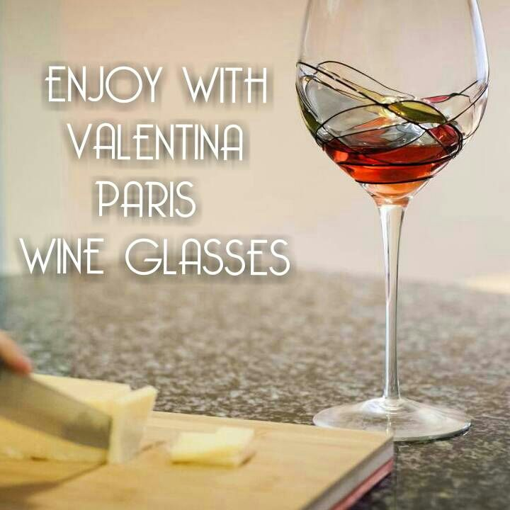 Enjoy life with Valentina Paris Wine Glasses, The Perfect Gift for any occasion :)  Buy now a set of 2 Beautiful Hand Painted Wine Glasses and start enjoying wine as it deserves!