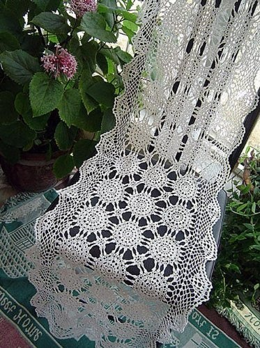 Vintage Hand Crochet White Cotton Table Runner By Victoriau0027s Deco,  Http://www