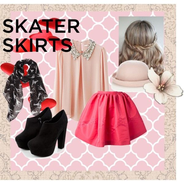 """Skater skirts"" by hartantinora on Polyvore"