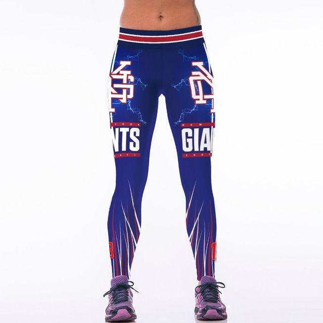 2017 New San Francisco Giant Baseball Team Sportswear Legging 3D Printing Legging Women Skinny Fitness Wicking Pants Mujer