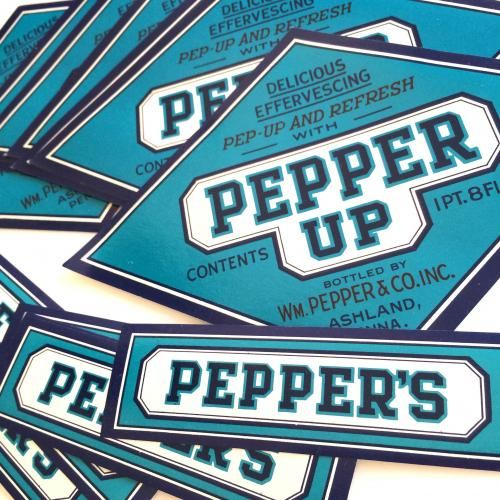 1940'sUSAソーダボトルラベルセット【PepperUp】 - Cheri~紙モノ・アジ紙のお店~
