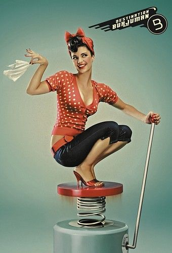Spring Loaded Pin-up