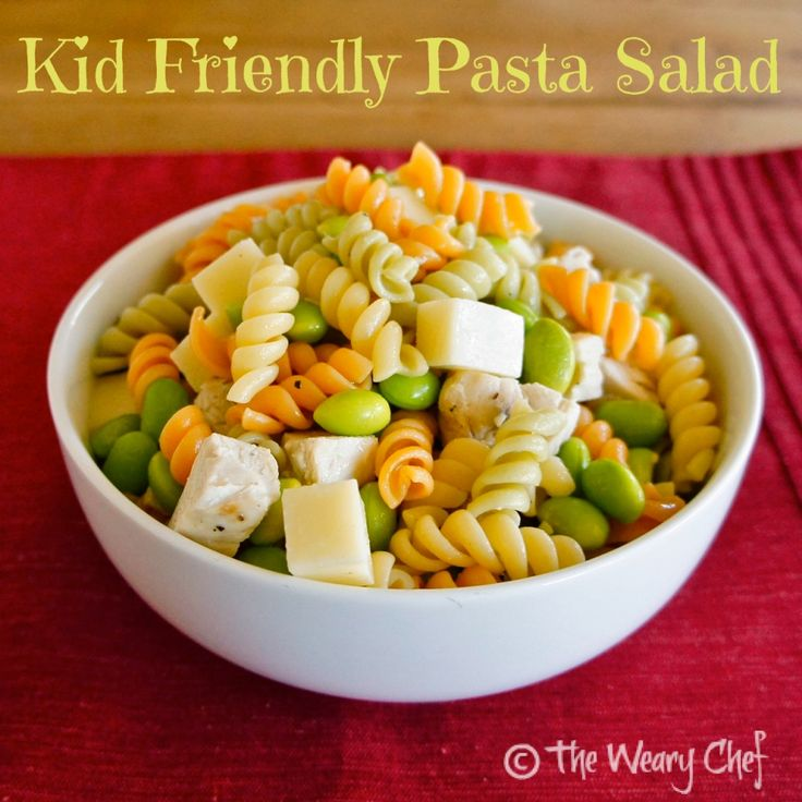 Kid Friendly Pasta Salad Recipe Kid Cold Pasta And Salads
