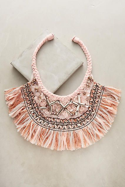 Mignonne Gavigan Fringed Georganna Bib Necklace. Click to shop right now! #anthropologie #urbanoutfitters