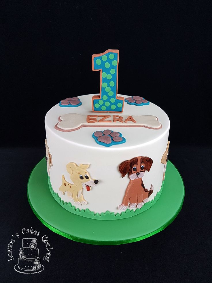 Ezra loves dogs so I thought these puppies would look really cute on his birthday cake. www.facebook.com/cakesbyleannerhodes