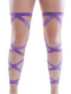 pastel purple leg wraps