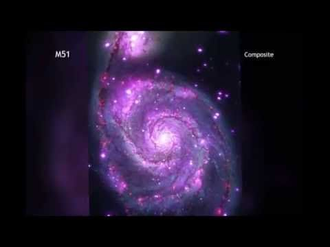 Whirlpool Galaxy (Messier 51) Twinkles in X-Ray's  3D