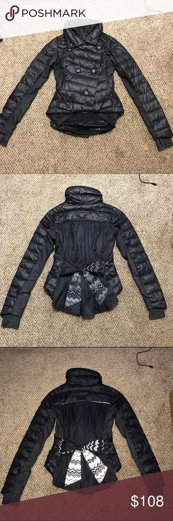 HOLIDAY SALE! Lululemon down jacket RARE! Super cute down jacket! Very lightweight and has reflective details. In great condition sz 6 but can fit a 4 too I'm a sz 4 btw:) PRICE FRIM! lululemon athletica Jackets & Coats